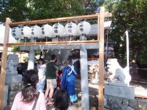 川原祓いの後で 八幡神社(鳥羽市船津町)