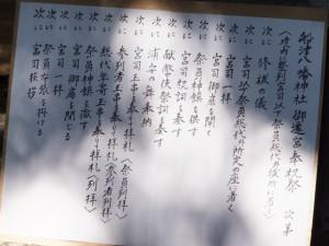 奉祝祭次第 八幡神社(鳥羽市船津町)