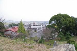 県指定史跡田丸城址 天守跡からの眺望