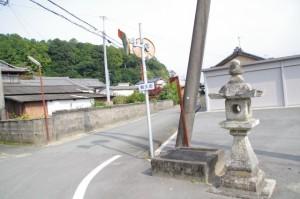 棒原神社付近の常夜燈