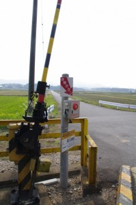 JR参宮線 前川踏切から望む蚊野神社方向