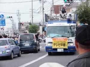 テレビ中継車1(外宮前バス停広場付近)