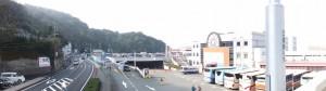 二見シーパラダイス前の歩道橋からの風景(国道42号)