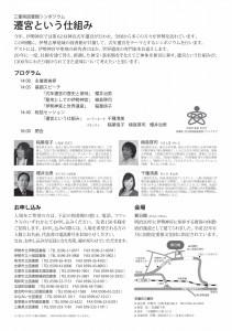 「三重県図書館シンポジウム 遷宮という仕組み」のフライヤー