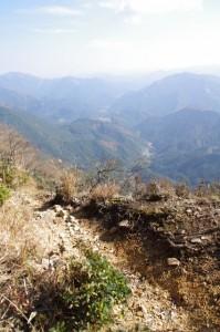 眺望(高見山山頂〜大峠の登山口)