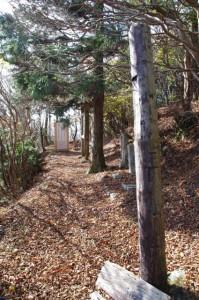 小峠への分岐(大峠の高見山登山口付近)