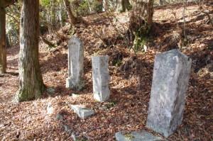 小峠への分岐付近の石柱(大峠の高見山登山口付近)