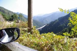 大峠〜高見トンネル入口の途中の風景(旧国道166号)