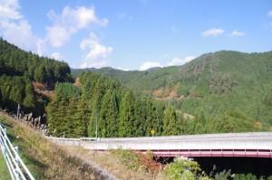 パーキングから望むループ橋(国道166号)