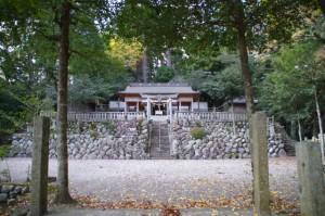 紅葉の波瀬神社(飯高町波瀬)