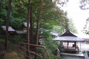 黒瀧神社の夫婦スギ付近からの眺め(松阪市飯高町森)