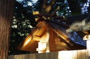 本遷宮の準備が進められる水屋神社(松阪市飯高町赤桶)