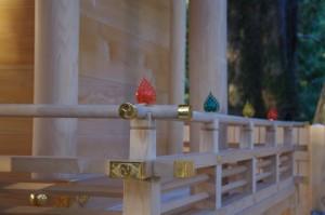 本遷宮に向けて造替された本殿(水屋神社)