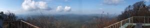 高見山山頂展望台からの眺望