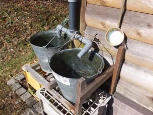 大峠駐車場付近のトイレの手洗用水(旧国道166号)