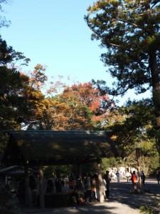 北御門参道火除橋付近の手水舎(外宮)