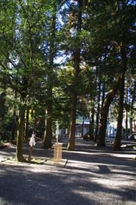 新嘗祭に向けて準備された野原神社(七保神社)の祓所