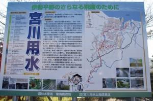 宮川用水の説明版
