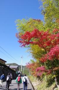 宮川用水粟生頭首工管理事務所から熊野古道(宮川側)へ
