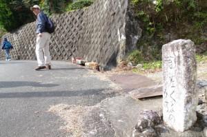 多岐原神社近くに道標(?)