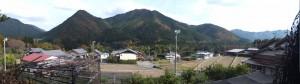 三瀬坂峠 三瀬川登り口付近からの風景