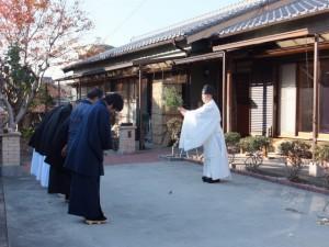 おわけ祭(高向大社 祷屋宅)
