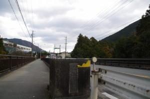 国道42号の三瀬谷橋(大谷川)