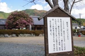 慶運寺の説明板(大台町下三瀬)