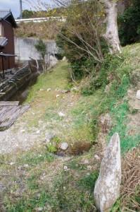 熊野古道の道標(?)付近