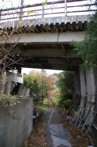 国道42号のトンネルを抜けて八柱神社前へ(三瀬の渡しから下三瀬八柱神社へ)