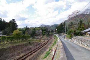 跨線橋付近(下三瀬跨線橋〜茶臼山)