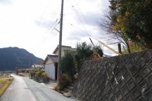 茶臼山の登り口付近