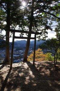 茶臼山の山頂(大台町)