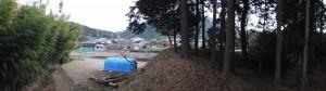三瀬砦跡の土塁(大台町下三瀬)