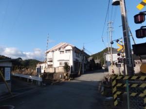 熊野古道伊勢路(JR紀勢本線 新田踏切)
