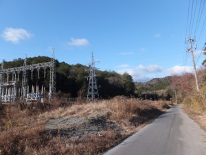 中部電力 栃原変電所付近(熊野古道伊勢路)