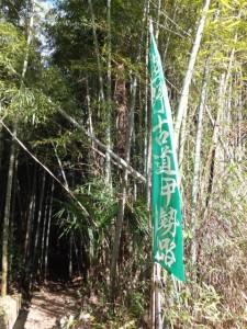 殿様井戸の出口付近(熊野古道伊勢路)