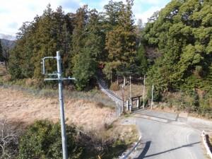 七保大橋(宮川)から望む (16) 打見八柱神社