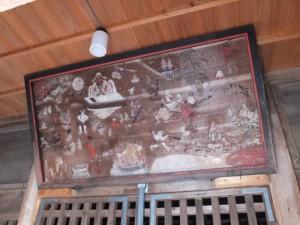 子安地蔵堂に掛けられている絵((12) 神正寺)