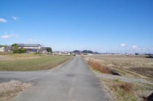 田丸城址の遠望(鴨下神社から奈良波良神社へ)